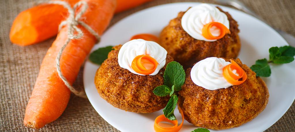Морковные кексики